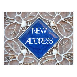 Cartão novo do endereço