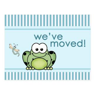 Cartão novo do endereço do sapo de Cutie