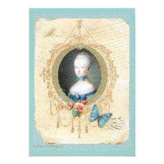 Cartão novo do impressão da borboleta da rainha convites personalizados