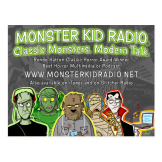 Cartão novo do rádio do miúdo do monstro