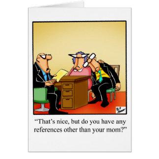 Cartão novo do trabalho do humor dos parabéns
