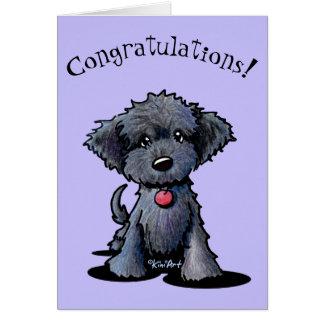 Cartão novo dos parabéns do filhote de cachorro