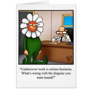 Cartão novo engraçado dos parabéns do trabalho