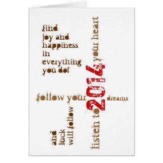 cartão novo feliz de 2014 anos