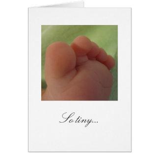 … Cartão novo tão minúsculo do bebê