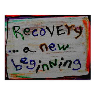 cartão novos de uma recuperação do começo