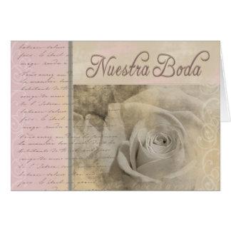Cartão Nuestra romântico Boda