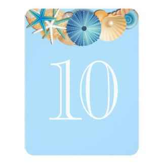 Cartão Número Card-10 da mesa