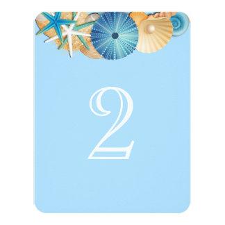 Cartão Número Card-2 da mesa