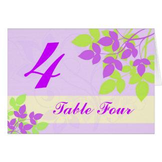 Cartão Número da mesa - agitação floral - lavanda e limão