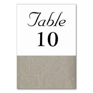 """Cartão Número da mesa da """"árvore"""" da ostra/vison"""