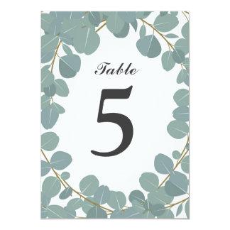 Cartão Número da mesa do casamento das hortaliças da