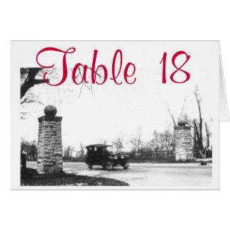 Cartão Número da mesa do partido dos anos 20 rujir