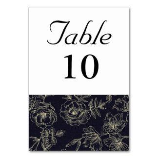 Cartão Número da mesa do rosa do vintage