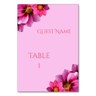 Cartão Número de canto decorativo elegante da mesa das
