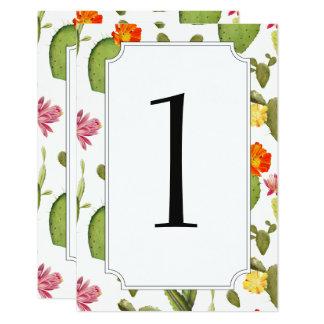 Cartão Número de florescência da mesa do casamento do