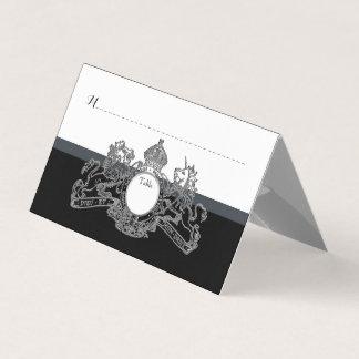 Cartão Número de prata preto da mesa do convidado do