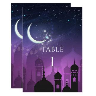 Cartão Número do Oriente Médio marroquino da mesa da