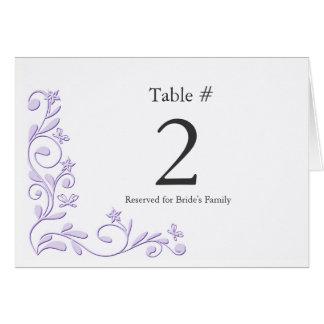 Cartão Número elegante da mesa da recepção