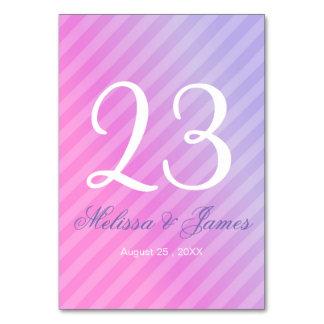 Cartão Número elegante da mesa do Lilac do rosa Pastel
