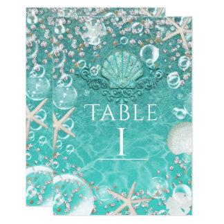 Cartão Número Enchanted cerceta da estrela do mar do mar