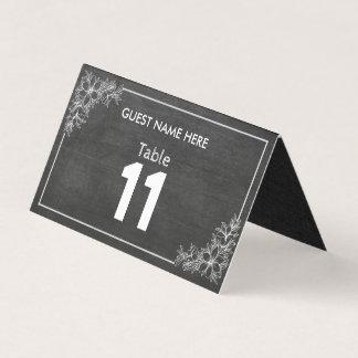 Cartão Número floral da mesa do casamento do quadro