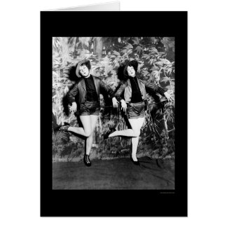 Cartão Número Leggy da dança nos insensatez 1925 dos tio