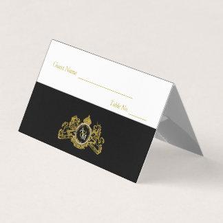 Cartão Número preto da mesa do convidado do emblema do