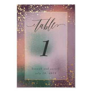 Cartão números painterly da mesa