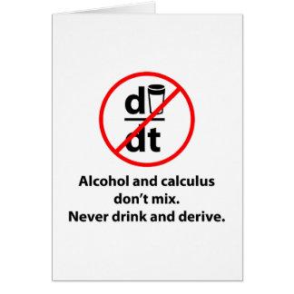 Cartão Nunca beba e derive