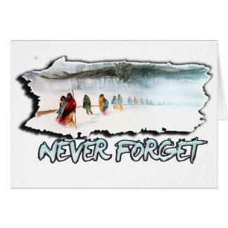 Cartão Nunca esqueça a fuga dos rasgos