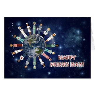 Cartão Nutre em todo o mundo o dia listrado