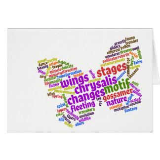 Cartão Nuvem elegante inspirada do Tag da borboleta