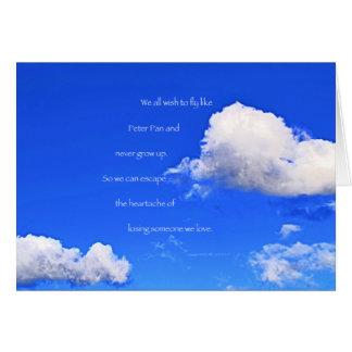 """Cartão """"Nuvens #59"""" com poema: Peter Pan"""
