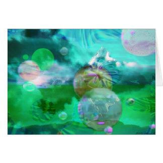 Cartão Nuvens com esferas