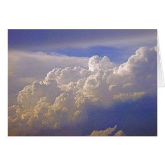 Cartão Nuvens de cúmulo-nimbo