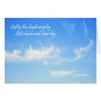 Cartão Nuvens macias…
