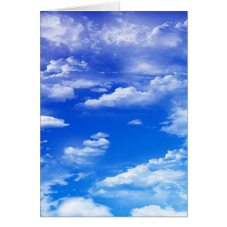 Cartão Nuvens (retrato)