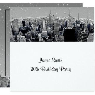 Cartão NYC estrelado gravou o aniversário cinzento da