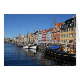Cartão Nyhavn, Copenhaga em Dinamarca