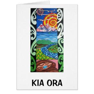Cartão - NZ- Kiaora - Arohanui