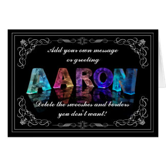 Cartão O Aaron conhecido em 3D ilumina-se (a fotografia)