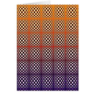 Cartão O abstrato esquadra 10 (o retrato)