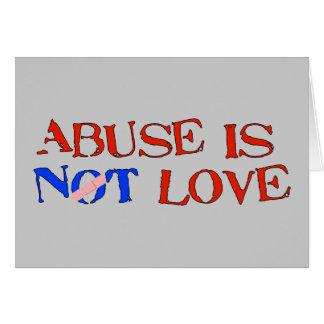 Cartão O abuso não é amor