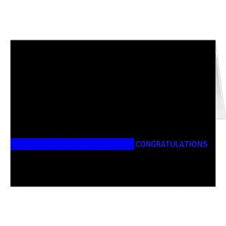 Cartão O agente da polícia dilui Blue Line