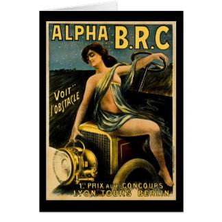 Cartão O alfa B.R.C. Lyon visita o automóvel do vintage