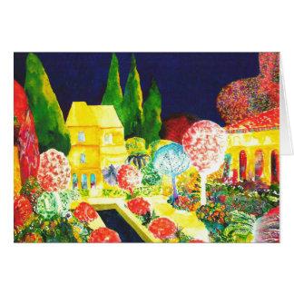 Cartão O Alhambra em a noite