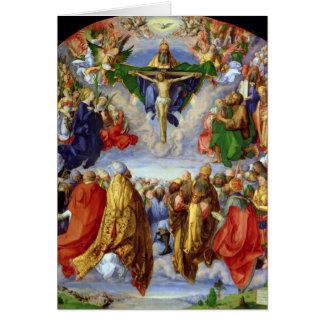 Cartão O Altarpiece de Landauer, todo o dia de santos,