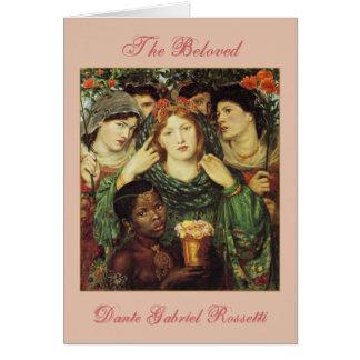 Cartão O amado por Raphael Rossetti de Dante