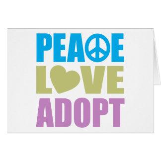 Cartão O amor da paz adota